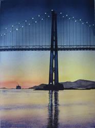 95 Lion's Gate Bridge at Dusk by Masasasaki
