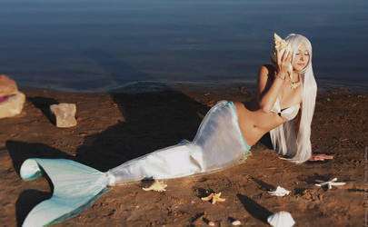 White Mermaid original by cxalena