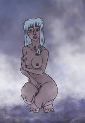 Kida in the hot springs by Ssssmudger