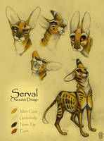Character Design: Serval by sketchinthoughts