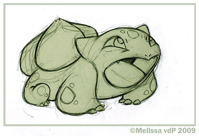 Bulbasaur Sketch by sketchinthoughts