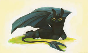 Toothless Sketch by sketchinthoughts
