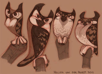 Owl Designs by sketchinthoughts
