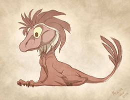 Little Raptor by sketchinthoughts