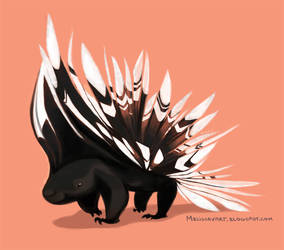 Daily Design: Porcupine by sketchinthoughts