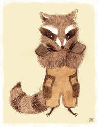 Rocket Raccoon by sketchinthoughts