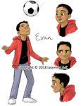 Character Sketch - Evan by K-B-Jones