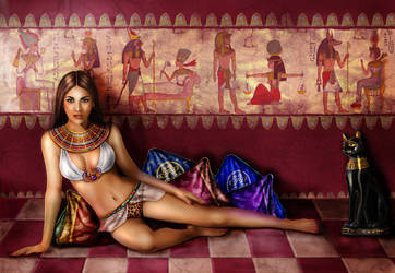 Queen of the Nile by crayonmaniac