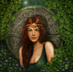 Portrait of a celtic maiden by crayonmaniac