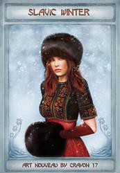Art nouveau 11 - Slavic winter by crayonmaniac
