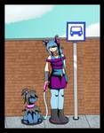 Bus stop by MetaDoodles