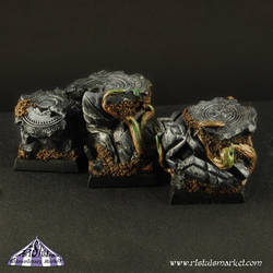 Fortress Ruins 20mm scenic square bases painted by RistulsMarket