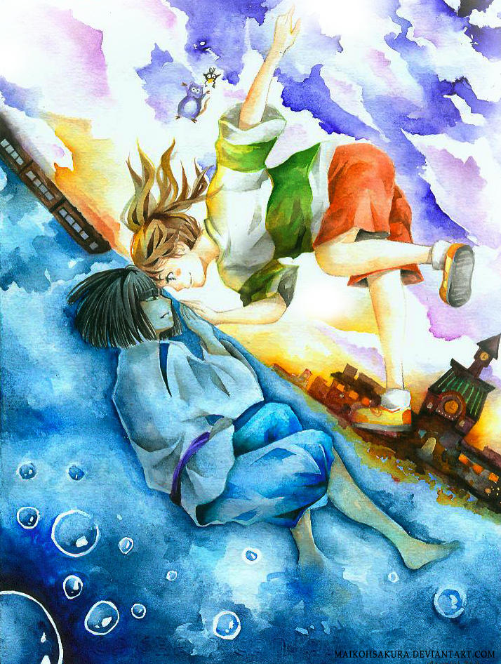 SPIRITED AWAY:  beyond skies and seas by mai-kuu