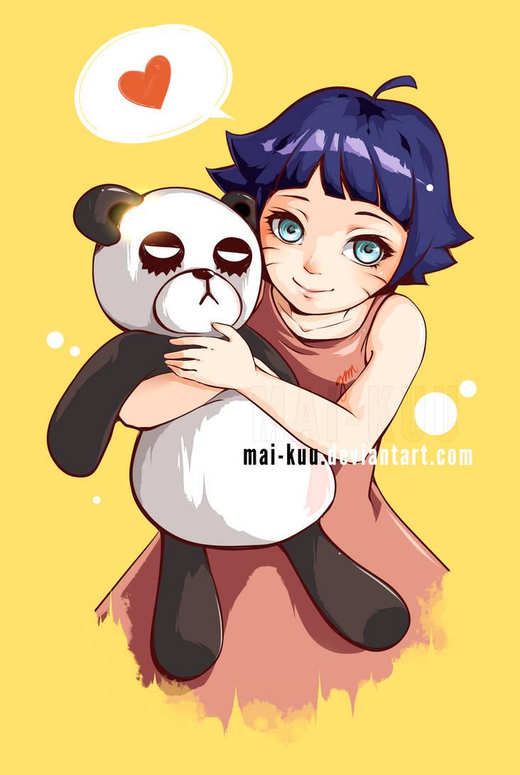 Himawari and Mr. Panda Bear by mai-kuu