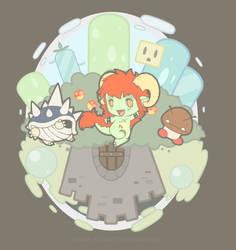 Mushroom Kingdom by Poison-Poptart