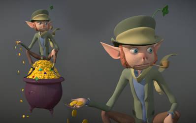 Lucky The Leprechaun 3D Model by dippydude