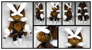 Mega Lopunny Custom Plush Commission by AkiaCreations