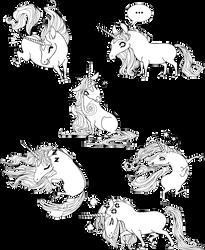 Unicorns poses by Inoosh