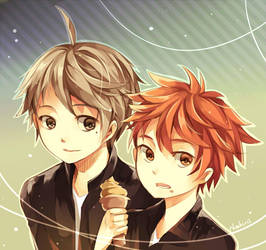 Sugamama and Hinabby ^q^ by neokirii