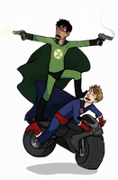 X-Ray and Vav get to their locale by AlmostMyself