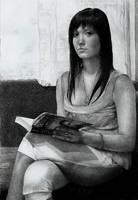 Woman with a book by zetcom
