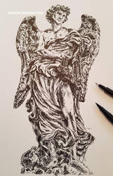 Angel sketch by ioanabart