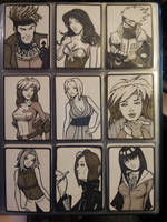 DOJ-CON ACEO cards 1-9 by SavantGuarde