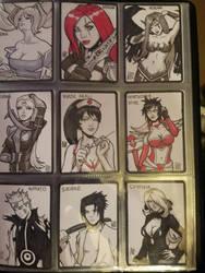 DOJ-CON ACEO cards 28-36 by SavantGuarde