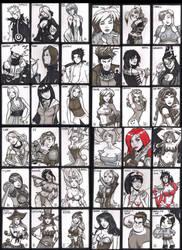 All the DOJ-con cards together by SavantGuarde