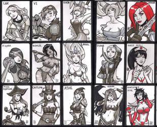 League of Legends Art cards by SavantGuarde