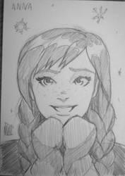 Anna from Frozen by SavantGuarde
