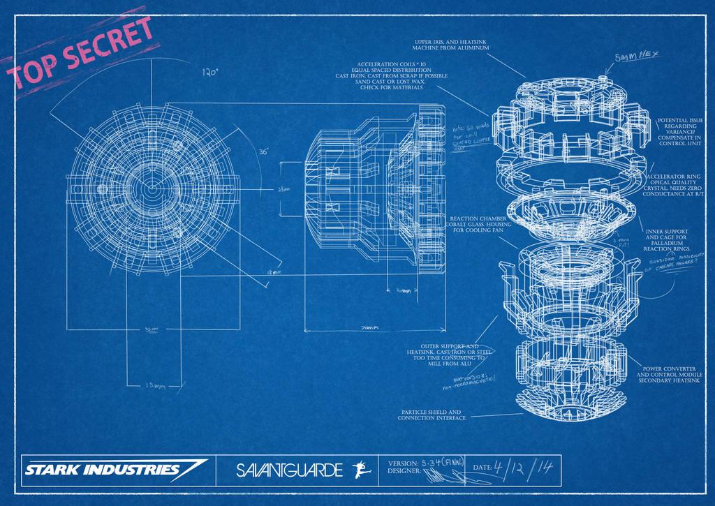 Arc Reactor Blueprint by SavantGuarde