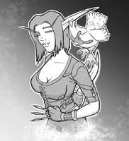 Warcraft Rogue by SavantGuarde