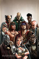 ROGUES! # 5 - Illustration only by RUIZBURGOS
