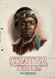 STRANGER THINGS - LUCAS by RUIZBURGOS