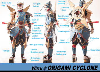 Origami Cyclone HERO SUIT by AmenoKitarou
