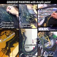 Tutorial Tuesday: Gradient Painting with Acrylic by AmenoKitarou