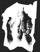 Hellboy and Duprass by PatBoutin