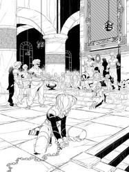 La geste cover Black and White by PatBoutin