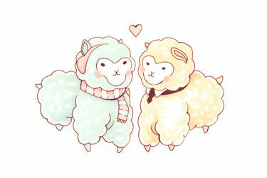 Cute Alpaca's by IshiArt