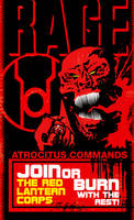 Red Lantern Corps Poster by Heartattackjack