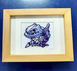 [FOR SALE] Steelix cross stitch by BlueStarbie-Arts