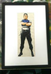 Kurtis Stryker Cross Stitch by BlueStarbie-Arts