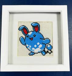 [FOR SALE] Azumarill Cross Stitch by BlueStarbie-Arts