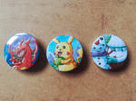 [FOR SALE] Pokemon Badges (1) by BlueStarbie-Arts
