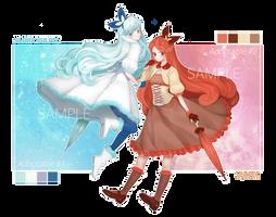 [Adoptable Open] #1 #2 Pokemon Gijinka Vulpix Twin by Hyuding510