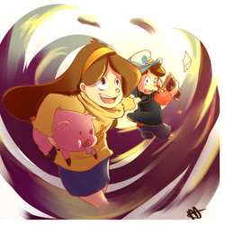 Gravity Falls 2 by megamooni