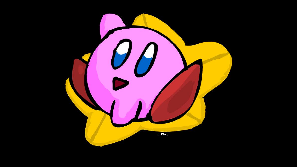 Kirby on a Warpstar by Kokonip