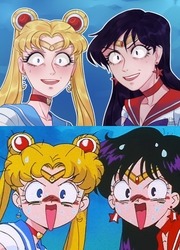 Redraw challenge [1day] Sailor Moon by Nuaramel