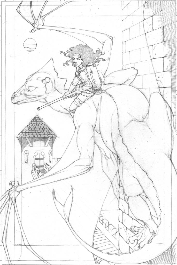 Lessa and Ramoth pencils by MMHudson